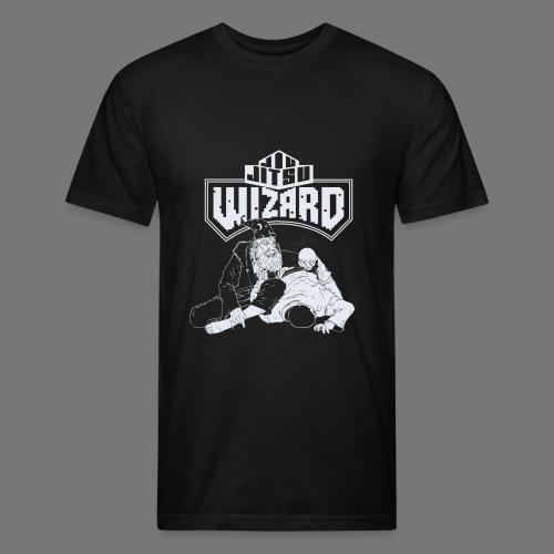 Jiu Jitsu Wizard- Crystal ball-o-plata - Fitted Cotton/Poly T-Shirt by Next Level