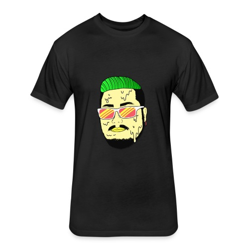 Monster Infested Face - Fitted Cotton/Poly T-Shirt by Next Level