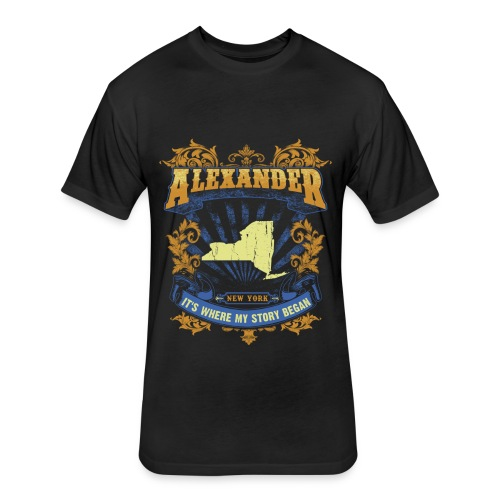 Alexander New York It s my where story began Tee - Fitted Cotton/Poly T-Shirt by Next Level