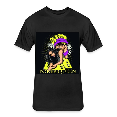 Poker Queen T-Shirt - Fitted Cotton/Poly T-Shirt by Next Level