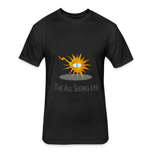 The All Seeing eye - Fitted Cotton/Poly T-Shirt by Next Level