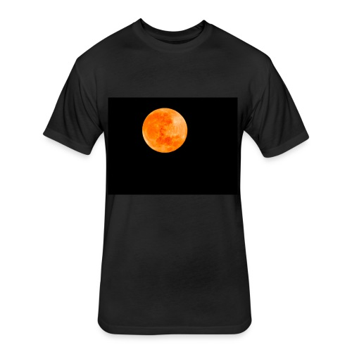 Blood Moon - Fitted Cotton/Poly T-Shirt by Next Level