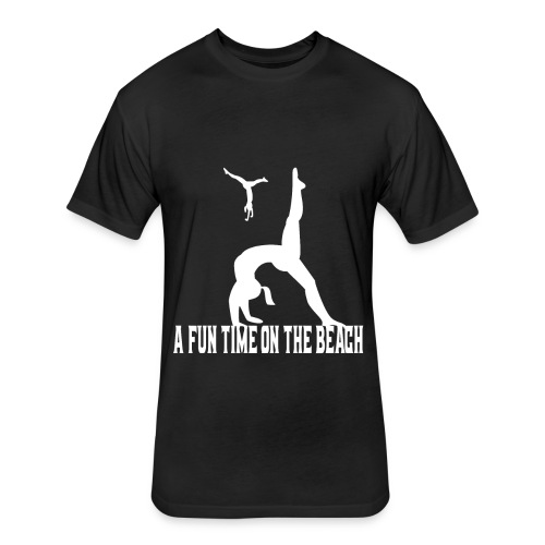 beach t-shirt A fun time on the beach t-shirt - Fitted Cotton/Poly T-Shirt by Next Level