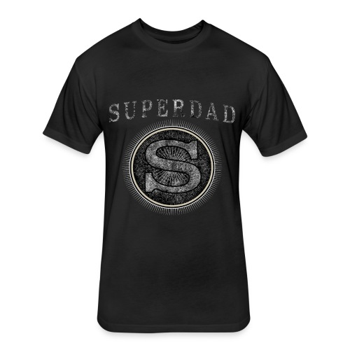 Father´s Day T-Shirt - Superdad - Fitted Cotton/Poly T-Shirt by Next Level