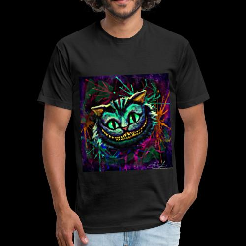 the cheshire cat by ex0tique - Fitted Cotton/Poly T-Shirt by Next Level
