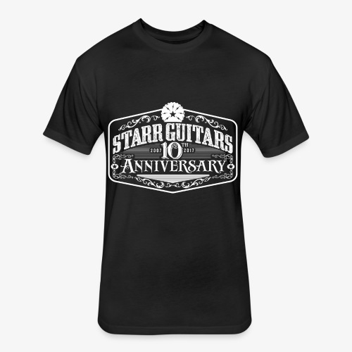 Starr Guitars 10th Anniversary White Logo - Fitted Cotton/Poly T-Shirt by Next Level