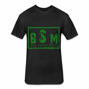 Big Sherm Mafia - Fitted Cotton/Poly T-Shirt by Next Level