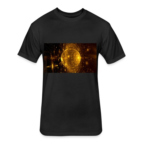 Golden Planet - Fitted Cotton/Poly T-Shirt by Next Level