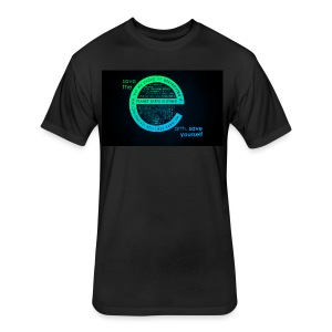 save the earth for UAE - Fitted Cotton/Poly T-Shirt by Next Level