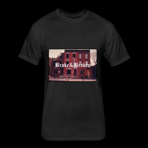 Broke and Broken Vintage NYC - Fitted Cotton/Poly T-Shirt by Next Level