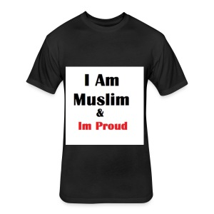 I Am Muslim - Fitted Cotton/Poly T-Shirt by Next Level