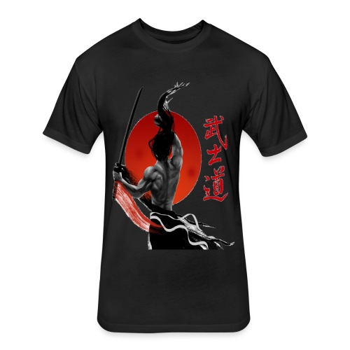 Redmoon Ronin - Fitted Cotton/Poly T-Shirt by Next Level