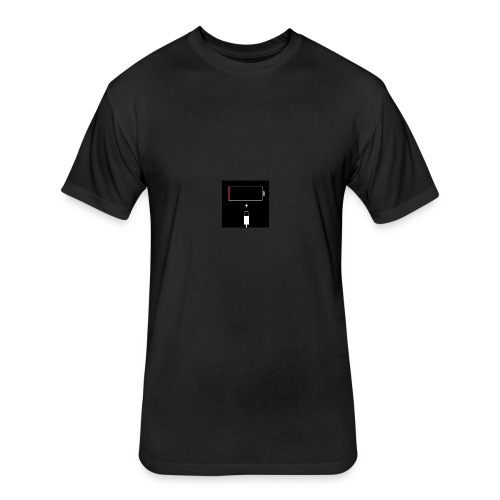iphone batterie vide - Fitted Cotton/Poly T-Shirt by Next Level
