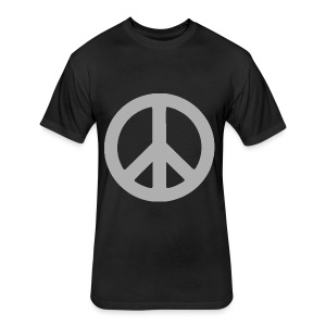 Peace - Fitted Cotton/Poly T-Shirt by Next Level