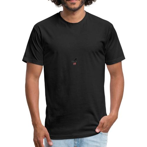 'LYF' Lion Hearted Logo - Fitted Cotton/Poly T-Shirt by Next Level