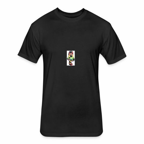 trippy as shrooms by bloodcross - Fitted Cotton/Poly T-Shirt by Next Level
