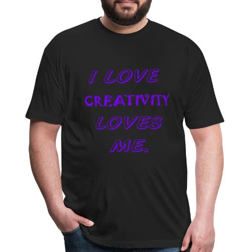 CREATIVITY - Fitted Cotton/Poly T-Shirt by Next Level