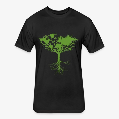 Earth tree - Fitted Cotton/Poly T-Shirt by Next Level