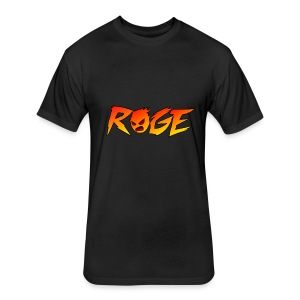 Rage T-shirt - Fitted Cotton/Poly T-Shirt by Next Level