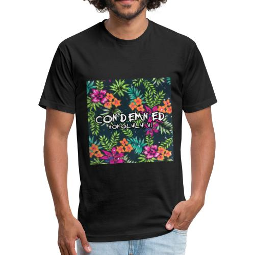 Floral Pattern - Fitted Cotton/Poly T-Shirt by Next Level