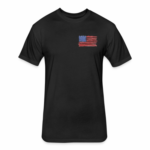 American Flag Brushed - Fitted Cotton/Poly T-Shirt by Next Level
