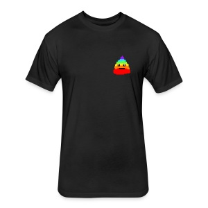 Poooo - Fitted Cotton/Poly T-Shirt by Next Level