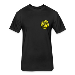 Death Before Decaf - Fitted Cotton/Poly T-Shirt by Next Level