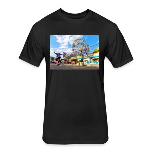 Coney Island Kickflip - Fitted Cotton/Poly T-Shirt by Next Level