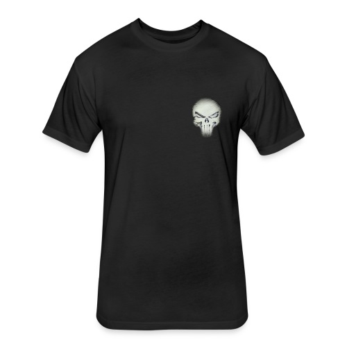 skull night - Fitted Cotton/Poly T-Shirt by Next Level