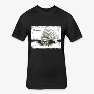 Indian Skull - Fitted Cotton/Poly T-Shirt by Next Level