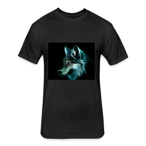 WolfShock - Fitted Cotton/Poly T-Shirt by Next Level