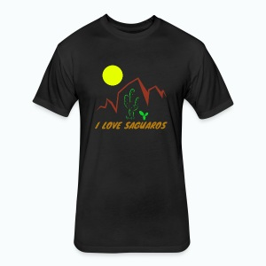 Saguaros 2 - Fitted Cotton/Poly T-Shirt by Next Level