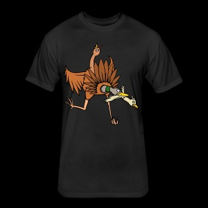 TURDUCKEN TIME! - Fitted Cotton/Poly T-Shirt by Next Level