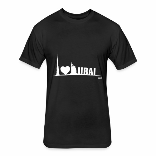 Love Dubai - Fitted Cotton/Poly T-Shirt by Next Level