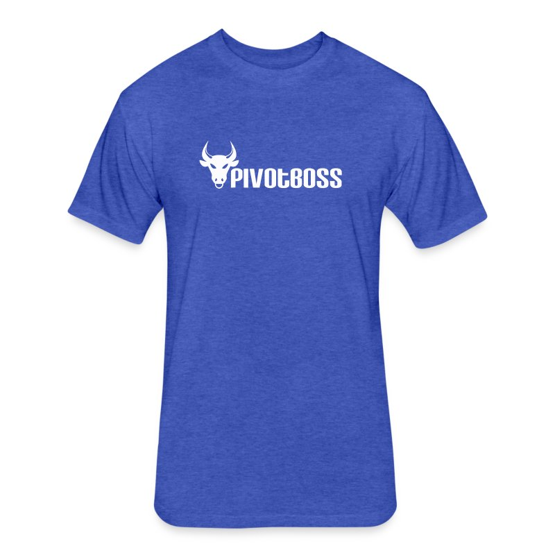 PivotBoss White Logo - Fitted Cotton/Poly T-Shirt by Next Level
