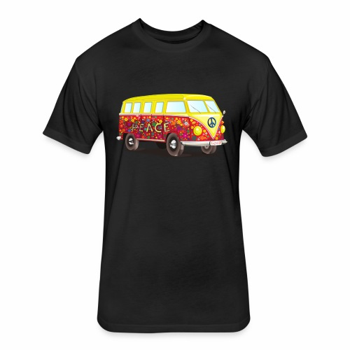 peace mobil - Fitted Cotton/Poly T-Shirt by Next Level