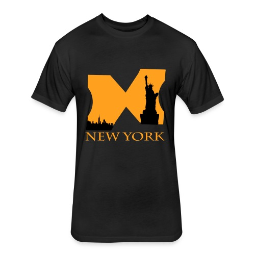 new york for design - Fitted Cotton/Poly T-Shirt by Next Level