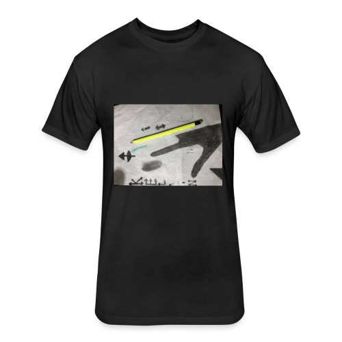 Kelvinviton - Fitted Cotton/Poly T-Shirt by Next Level