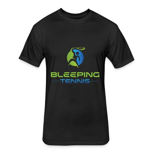 Bleeping Tennis - Fitted Cotton/Poly T-Shirt by Next Level