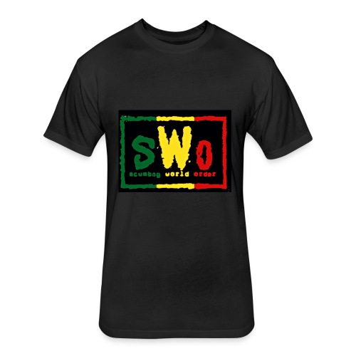 Rasta SCUMBAG - Fitted Cotton/Poly T-Shirt by Next Level