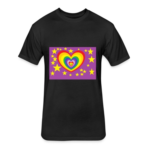 reeembow - Fitted Cotton/Poly T-Shirt by Next Level