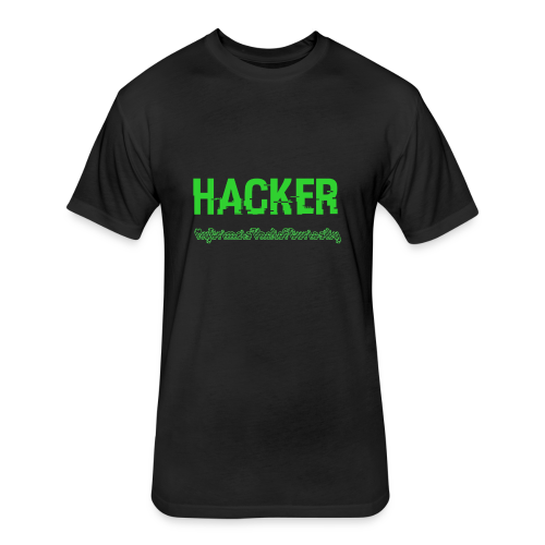 The Hacker - Fitted Cotton/Poly T-Shirt by Next Level