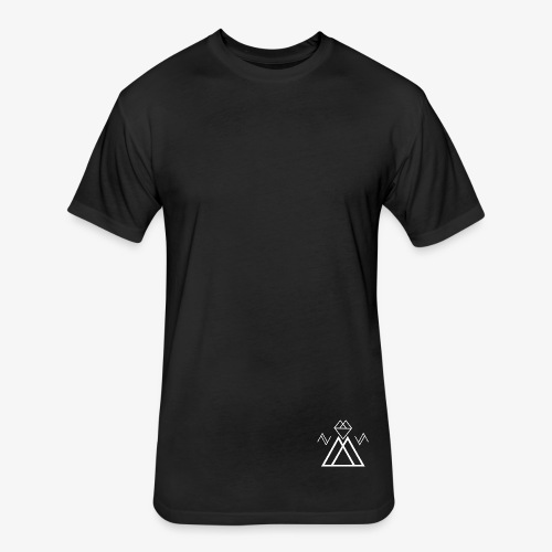 EDMS White - Fitted Cotton/Poly T-Shirt by Next Level