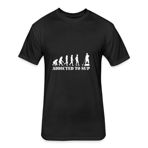 EvolutionAddictedtoSUPWhite - Fitted Cotton/Poly T-Shirt by Next Level