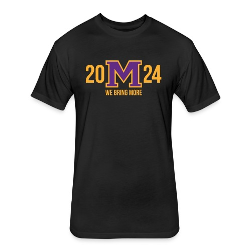 M 24 2024 Purple/Gold - Fitted Cotton/Poly T-Shirt by Next Level