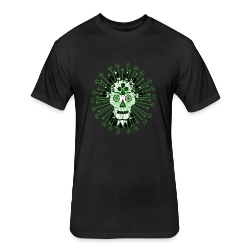 Day Of The Dead Scull Design - Fitted Cotton/Poly T-Shirt by Next Level