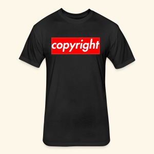 copyright - Fitted Cotton/Poly T-Shirt by Next Level