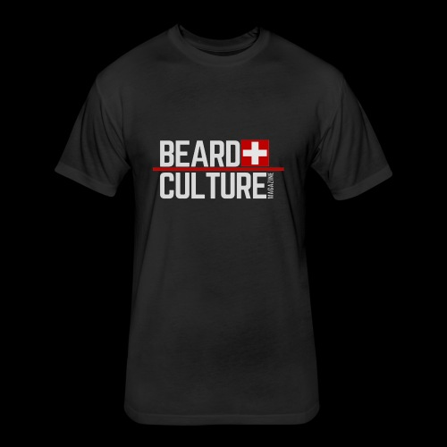 Beard Culture Magazine - Fitted Cotton/Poly T-Shirt by Next Level