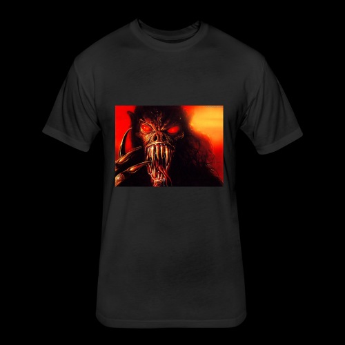 Devil's - Fitted Cotton/Poly T-Shirt by Next Level