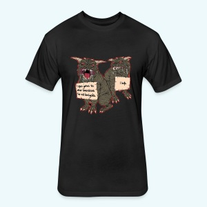 Demonic Terror Dog-Shaming - Fitted Cotton/Poly T-Shirt by Next Level